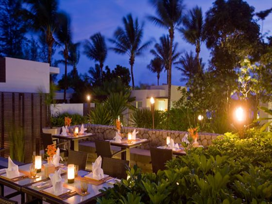 Outdoor dining at Aleenta Phuket - Phang Nga Resort and Spa