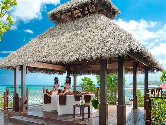 Outdoor massages at Sandals Grande Riviera Beach & Villa Golf Resort