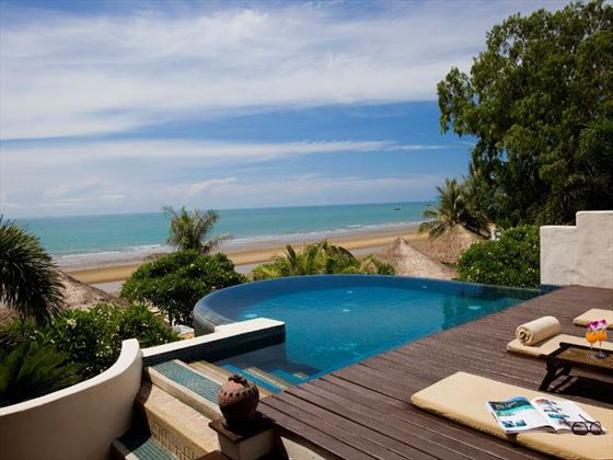 Outdoor pool with ocean views at Aleenta Hua Hin Pranburi Resort and Spa