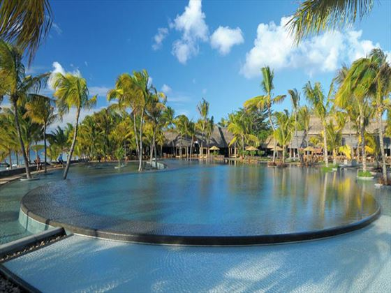 Outdoor swimming pool at Trou Aux Biches Resort & Spa