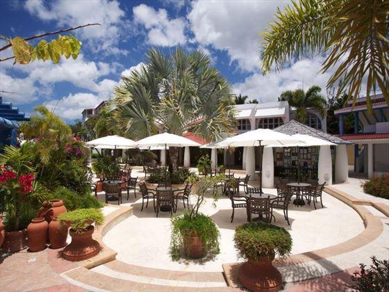Outdoor terrace area at Jolly Beach Resort & Spa