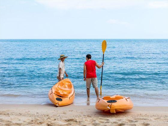 Kayaking at Outrigger Koh Samui