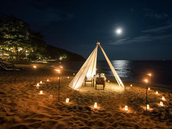 Romantic private dining at Outrigger Koh Samui