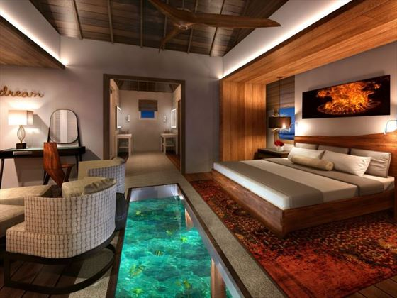 Over-the-Water Villa interior