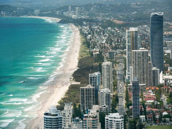 Overlooking Surfers Paradise and Mermaid Beach, Gold Coast
