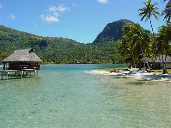 Overwater hut in Rarotonga