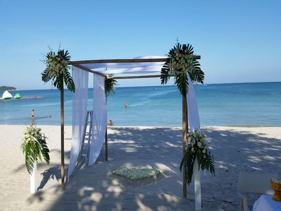 Wedding seremony set up, OZO Chaweng Samui