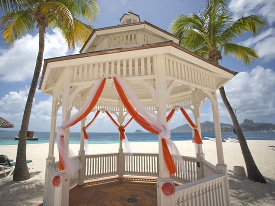 Decorated gazebo