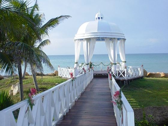 The wedding gazebo at Paradisus Varadero