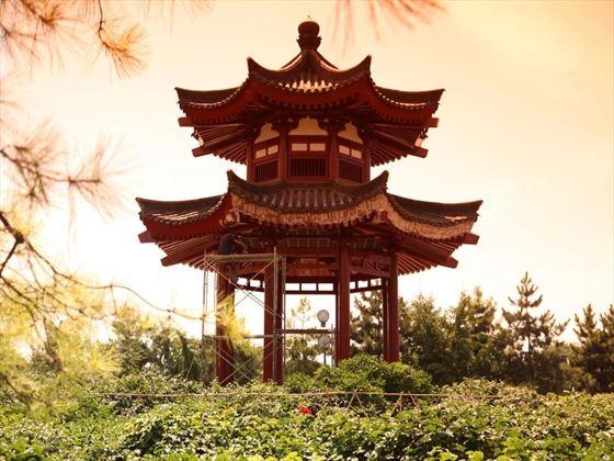 Pavilion House at Giant Wild Goose Pagoda