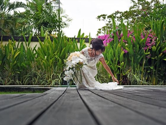 Bride arriving at the wedding, The Pavilions Bali
