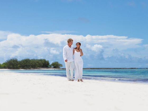 Wedding couple on Desroches Island