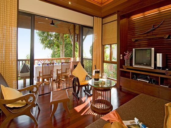 Pimalai Resort & Spa Pool Villa living room