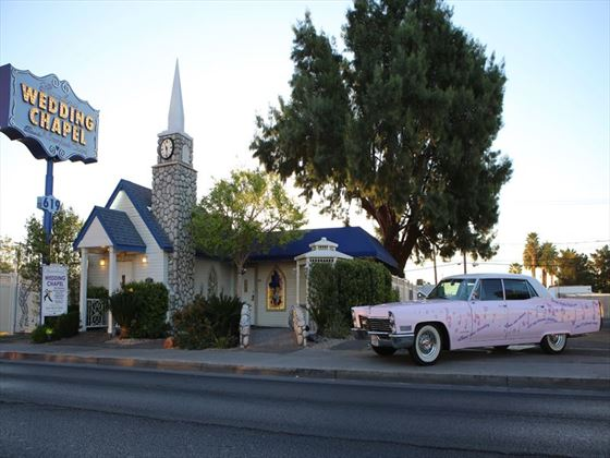 Vintage Pink Cadillac Wedding