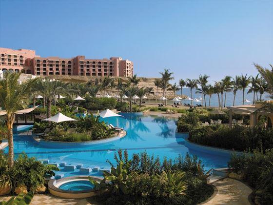 Pool area at Shangri-La Barr Al Jissah Resort & Spa