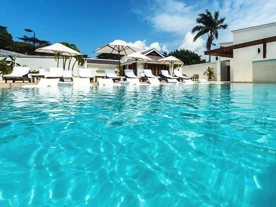 The pool at Calabash, Grenada
