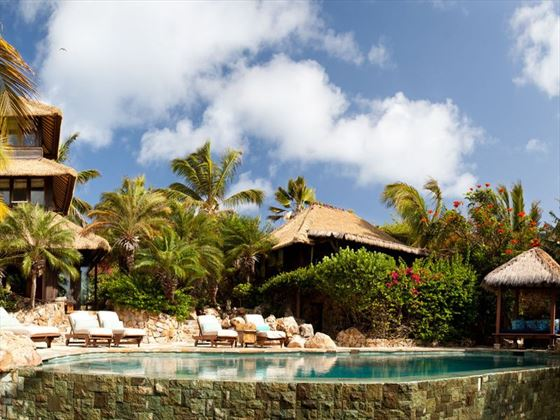 Pool at the Bali Houses at Necker Island