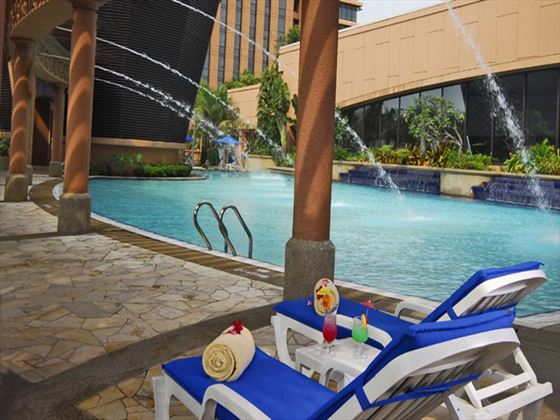 Poolside loungers at Berjaya Times Square Hotel