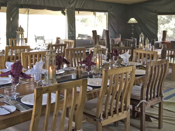 Porini Rhino Camp bedroom dining room