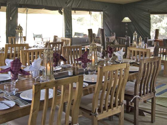 Porini Rhino Camp bedroom dining room