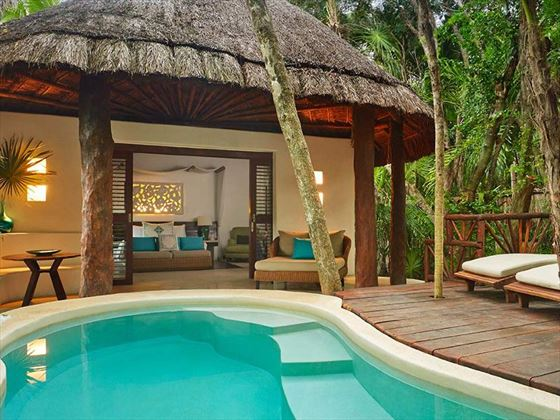Private plunge pool at Viceroy Riviera Maya