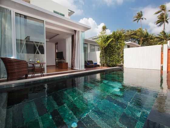 Private pool at KC Beach Club and Pool Villas