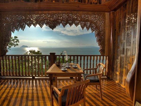 Private terrace at Santhiya Koh Yao Yai