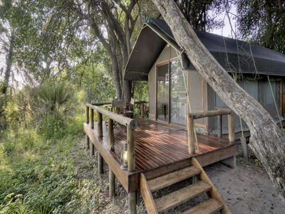 Private veranda at Camp Okavango
