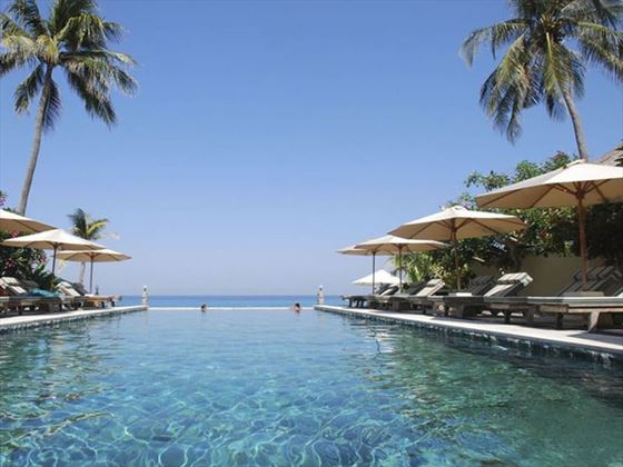 Infinity Pool at Puri Mas, Lombok