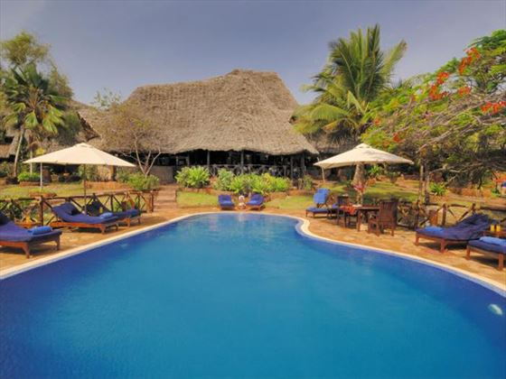 Ras Nungwi pool and loungers