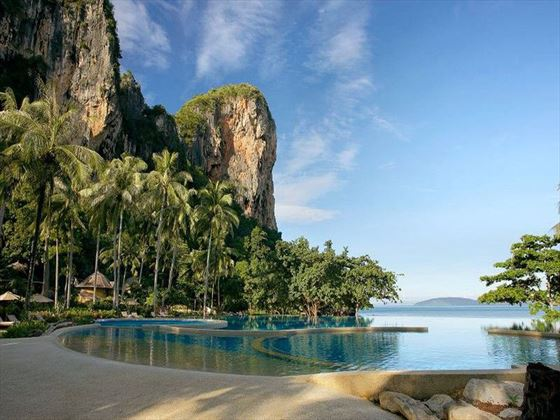Rayavadee swimming pool and view