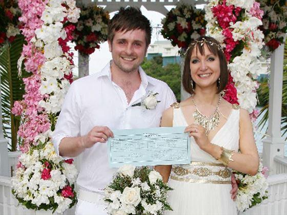 Just married at The Verandah Resort & Spa