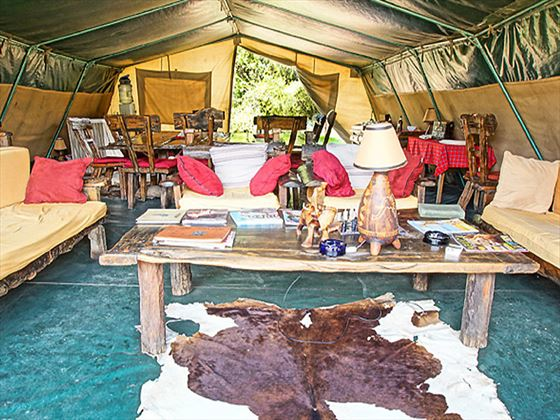 Dining at Porini Mara Camp