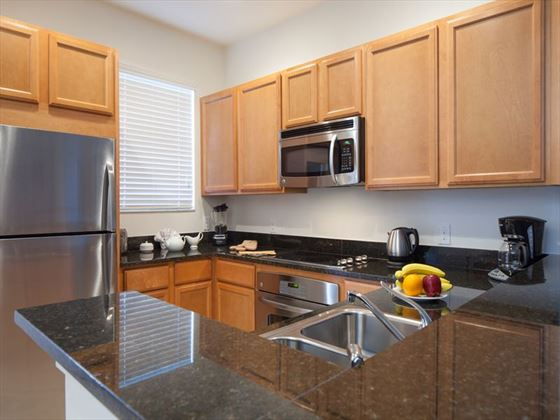 Typical townhome kitchen