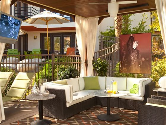 Relax at the main poolside cabana