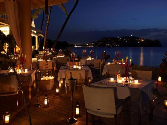 Rendezvous Terrace restaurant in the evening