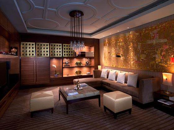 Residence lounge at Eastern Mangroves Hotel & Spa by Anantara