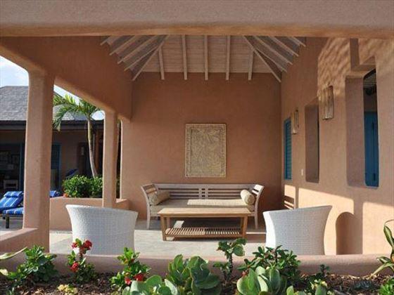 The shady veranda