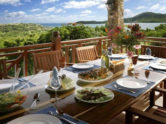 Dine al fresco with panoramic views