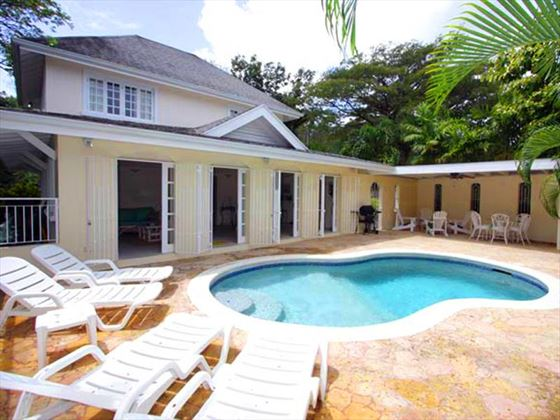 The lovely Villa Sandpebbles in Tobago