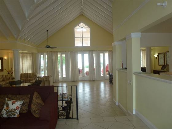 The spacious living area