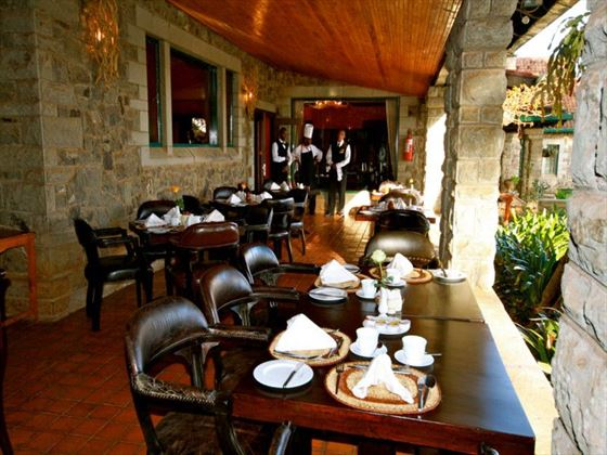 Restaurant terrace at Aberdare Country Club