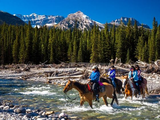Horse ride to Sundance Lodge