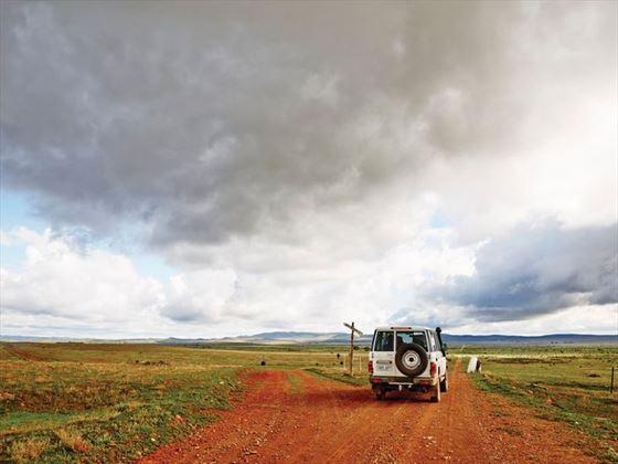 Driving through the Flinders Ranges