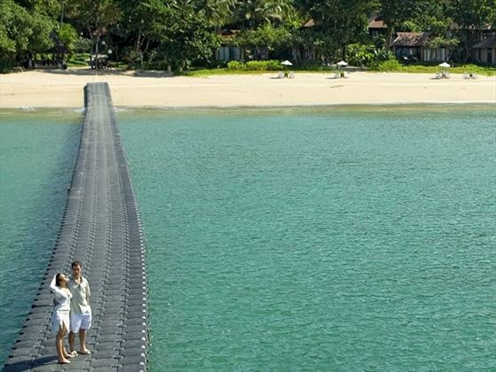 Romantic stroll by the sea at Pimalai Resort & Spa
