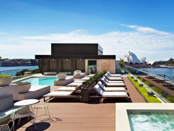 Rooftop pool at Park Hyatt Sydney