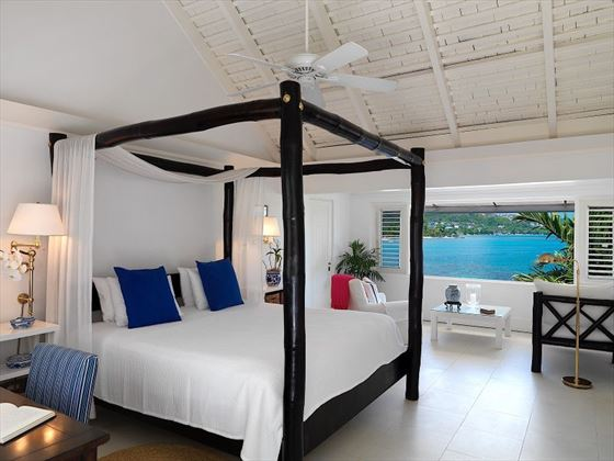 Oceanfront room bedroom