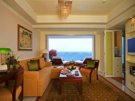 Royal Wing Suites & Spa living room at Royal Cliff Hotels Group