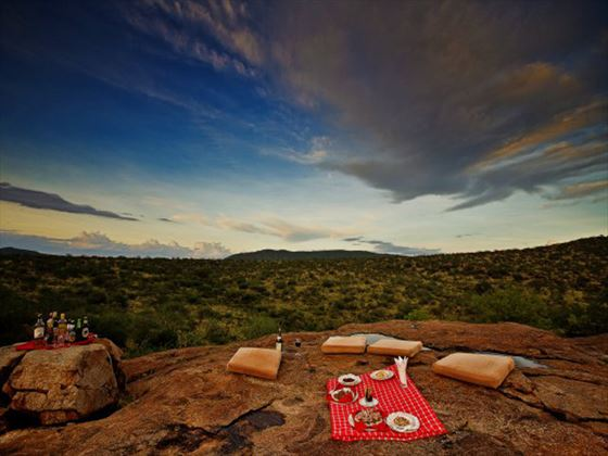 Samburu Sopa Lodge bush lunch