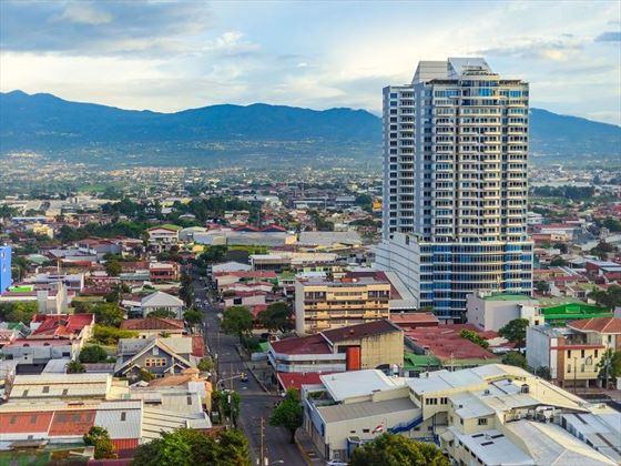 San Jose Streets & Mountain Backdrop, Costa Rica